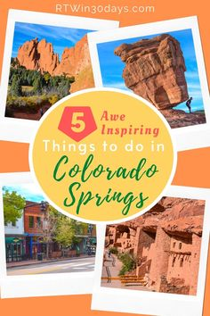 Looking for an awe-inspiring outdoor getaway right here in the USA? Head straight for Colorado Springs! The Colorado Springs area offers everything you need for the perfect active vacation enjoying the great outdoors. From majestic Pikes Peak to the soaring sandstone rock formations of Garden of the Gods, you'll find lots to see and do for the whole family. And the best part? Many of the best things to do in Colorado Springs are totally free. #RTWin30days #PikesPeak #free #colorado #travel Colorado City, Visit Colorado, Colorado Springs Things To Do, Best Solo Travel Destinations, Best Weekend Getaways, Pikes Peak, Inspiring Things, Rock Formations, Usa Travel