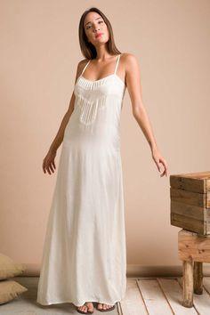 Pleated Strappy Maxima Dress