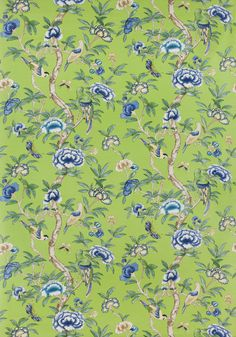 GISELLE, Green, F914225, Collection Imperial Garden from Thibaut