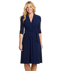 I love the cut of this dress. And navy is a classic color and looks good on everyone!