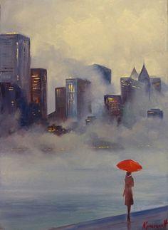 Pinturas impressionistas contemporâneas de Christina Nguyen