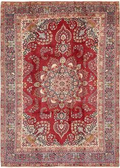fav red <3 Red Mashad Area Rug