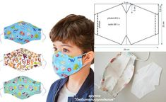 Sewing Lessons, Sewing Hacks, Sewing Tutorials, Sewing Crafts, Sewing Projects, Face Masks For Kids, Easy Face Masks, Diy Face Mask, Techniques Couture