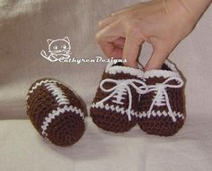 Looking for your next project? You're going to love Toy Football and Baby Booties by designer CathyrenDesigns.