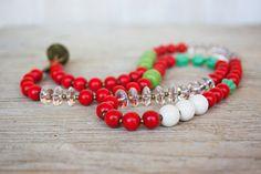 Long Layering Boho Chic Necklace by jimenasjewelry on Etsy