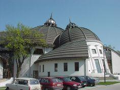 what!?...Peter Pazmany Catholic University in Piliscsaba, Hungary, designed by architect Imre Makovecz.