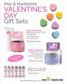 Get yourself a organic non toxic gift set this Valentine's Day!