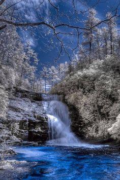 Secret Falls, Nantahala National Forest, Highlands, North Carolina, – My World Beautiful Waterfalls, Beautiful Landscapes, Highlands North Carolina, Highlands Nc, Beautiful Places, Beautiful Pictures, Winter Scenes, Blue Ridge Mountains, Nc Mountains