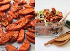 Black Bean Quinoa Salad with Cumin-Roast Carrots
