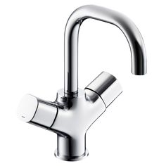 This contemporary styled chrome two lever basin mixer tap from Ideal Standard's Tempo range is suitable for high and low pressure water systems. Water Filtration System, Water Systems, Basin Mixer Taps, Kitchen Taps, Hard Water, Water Filter, Sink, Chrome
