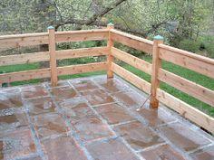 Image result for horizontal deck railing