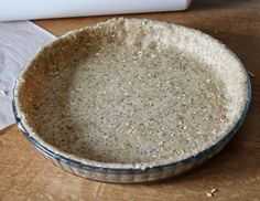 Pâte à tarte aux flocons d'avoine