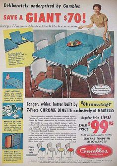 Kitchen Vintage Retro Formica Table 25 Trendy Ideas Kitchen Vintage Retro Formica Table 25 Trendy Ideas Always wanted to learn to knit, nonetheless unsure how to s. Retro Advertising, Retro Ads, Vintage Advertisements, Vintage Ads, Vintage Decor, Vintage Items, Furniture Ads, Modern Home Furniture, Vintage Furniture
