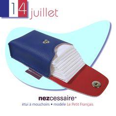 Indispensable pour le défilé, afficher les couleurs du Petit Français et verser une larme d'émotion. Bonne fête nationale à tous !  http://lesepatants.com/etuis-a-mouchoirs/165-etui-a-mouchoirs-simili-cuir-le-petit-francais.html