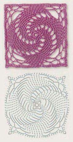 Transcendent Crochet a Solid Granny Square Ideas. Inconceivable Crochet a Solid Granny Square Ideas. Motifs Granny Square, Crochet Blocks, Granny Square Crochet Pattern, Crochet Flower Patterns, Crochet Diagram, Crochet Stitches Patterns, Crochet Squares, Crochet Flowers, Crochet Doilies