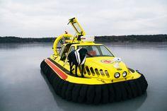 Patrol hovercraft Torbjorn on lake Mälaren