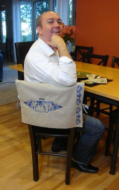 Free Project Instructions To Make A Placemat Chair Back Cover.