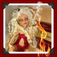OOAK repaint Doll in Cigar Box Collectors by CatEncioDolls on Etsy