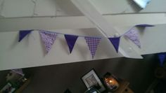 'Black Berry' bunting by hayleys hobbies. Available in 2m and 5m to buy, 10m and 15m to hire .