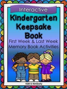 $3 Kindergarten Keepsake Book (First Week-Last Week Activities)