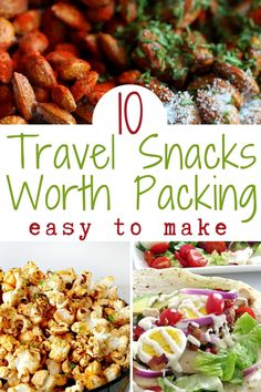 Make one or more of these easy to make travel snacks and you won't have to buy sad, old airport food ever again! Car Snacks, Portable Snacks, Road Trip Snacks, Road Trips, Beach Vacation Meals, Vacation Meal Planning, Healthy Vegan Snacks, Healthy Recipes, Healthy Travel Snacks