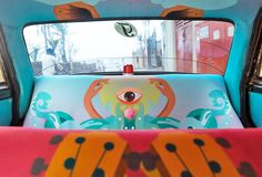 india-based artists beautify mumbai cabs for the taxi fabric project