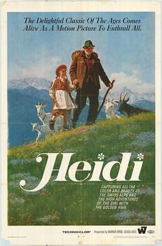 A childhood memory I used to watch this alot.Mums favourite story as a child, hence my name. My Childhood Memories, Sweet Memories, Heidi Movie, Nostalgic Images, All Nature, My Memory, Illustrations, Childrens Books, Growing Up