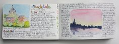Pages from Drawing Journal - Stockholm | Flickr - Photo Sharing!