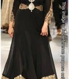 Buy Bollywood Madhuri Dixit Designer Black Gown bollywood-salwar-kameez-online online