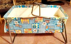 Vintage 1960s' portable infant car bed with mattress.