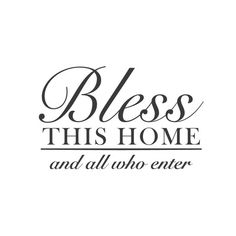 Count your blessings! Having both a place to call home and a family to share it with...who could ask for...