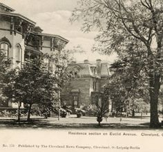 Residence section on Euclid Avenue, Cleveland, O. :: Postcards of Cleveland