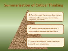 Critical thinking for high school students