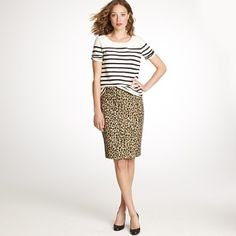 2ffbebb3f9 Leopard print might be be appropriate for school.... Leopard Skirt
