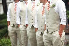 no jackets & sleeves rolled. I like this idea | VIA #WEDDINGPINS.NET