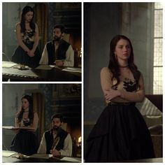 Mary's Tan and Black Dress 3x09: Wedlock