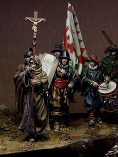 El Milagre de Empel - December 1585 - Virtual Museum of Historical Miniatures Military Figures, Military Diorama, Conquistador, 16th Century Clothing, Thirty Years' War, Early Modern Period, Classical Antiquity, Late Middle Ages, Virtual Museum