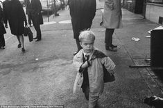On the sidewalks of New York: Small Person with Bookbag, NYC, 1968