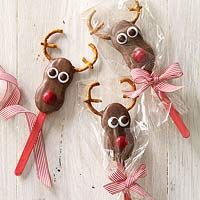 Nutter Butter Reindeer. Great gift idea too.