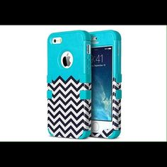 Chevron IPhone 5s Case Chevron aqua 5s iPhone case is super cute and durable. Had a case from this company dropped my phone 100s of times and it protected it so well! Was supposed to get a 5s but didn't get one so it's never been used! Feel free to negotiate price make and offer :) Ulak Other