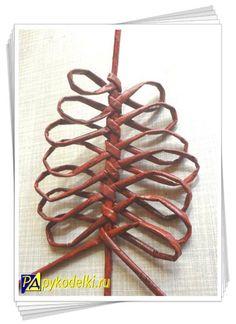 Украшение плетеных шкатулок и корзинок - ажурные листья из бумаги своими руками…