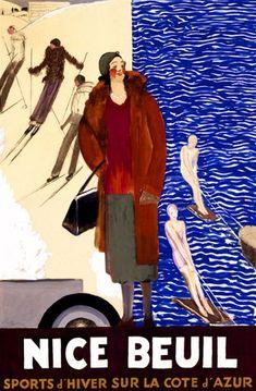 Nice Beuil  Artist: Cappiello  Circa: 1928  Origin: France