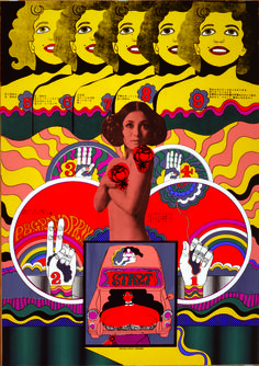 Keiichi Tanaami poster for PB Grand Prix 02 - 1968. A cross between 60's psychedelia and the early 70's French photographic comic book style.