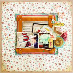 Letter Boutique Layout by Christine Middlecamp - Crate Paper Booth design