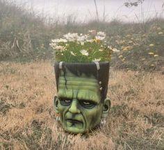 Frankenstein Head Flower Pots