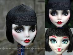 she's too beautiful!! cupid flapper repaint - eifel doll dress