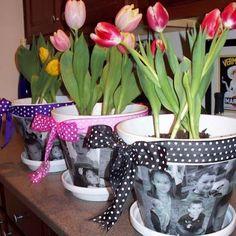 Mod Podge Photo Flower Pots