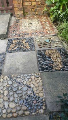 Pebble mosaics by Designer Gardens Landscaping www.designergardenlandscaping.co.za