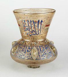 Egypt, Mosque Lamp, c. 1319, enamel and gilded glass, The al-Sabah Collection, Dar al-Athar al-Islamiyyah, Kuwait.