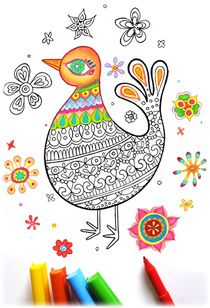 Printable Coloring Pages: Fun Downloadable Coloring Books by Thaneeya McArdle